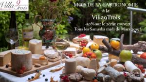 Villa9Trois_Moisdelagastronomie_Plateaudefromage_Terrasse_Jardin